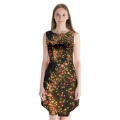 Christmas Tree Sleeveless Chiffon Dress