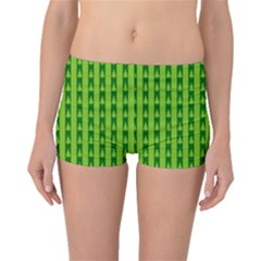 Christmas Tree Background Xmas Boyleg Bikini Bottoms