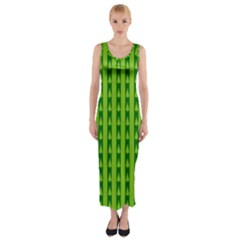 Christmas Tree Background Xmas Fitted Maxi Dress