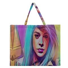 DRAG ON GO Zipper Large Tote Bag