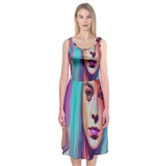 DRAG ON GO Midi Sleeveless Dress
