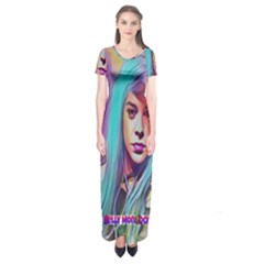 DRAG ON GO Short Sleeve Maxi Dress