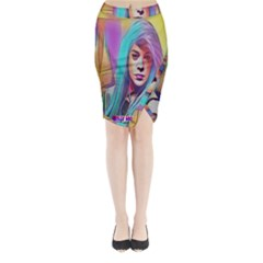 DRAG ON GO Midi Wrap Pencil Skirt