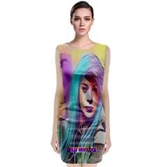 DRAG ON GO Sleeveless Velvet Midi Dress