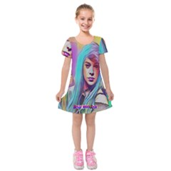 DRAG ON GO Kids  Short Sleeve Velvet Dress