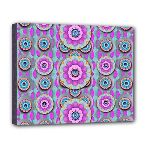 Magic Flowers From  The Paradise Of Lotus Deluxe Canvas 20  X 16