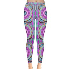 Magic Flowers From  The Paradise Of Lotus Leggings