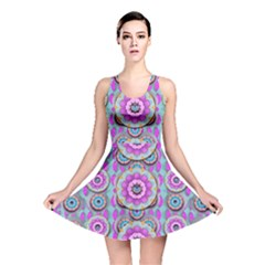 Magic Flowers From  The Paradise Of Lotus Reversible Skater Dress