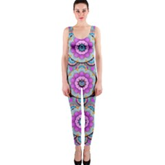 Magic Flowers From  The Paradise Of Lotus Onepiece Catsuit