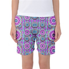 Magic Flowers From  The Paradise Of Lotus Women s Basketball Shorts