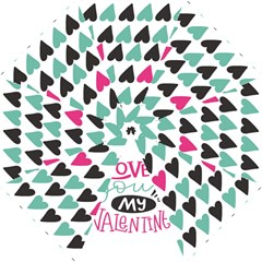 I Love You My Valentine / Our Two Hearts Pattern (white) Folding Umbrellas