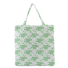 Saint Patrick Motif Pattern Grocery Tote Bag