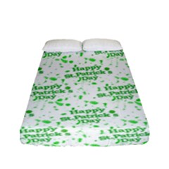 Saint Patrick Motif Pattern Fitted Sheet (Full/ Double Size)