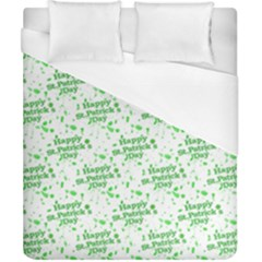 Saint Patrick Motif Pattern Duvet Cover (California King Size)