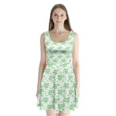 Saint Patrick Motif Pattern Split Back Mini Dress