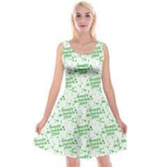 Saint Patrick Motif Pattern Reversible Velvet Sleeveless Dress