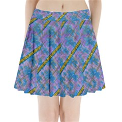 A  Golden Starry Gift I Have Pleated Mini Skirt