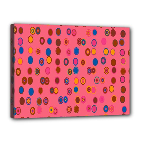 Circles Abstract Circle Colors Canvas 16  x 12