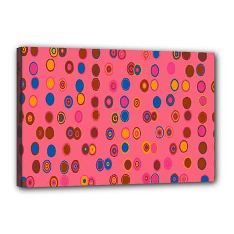 Circles Abstract Circle Colors Canvas 18  X 12