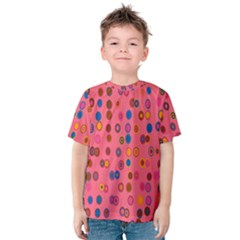 Circles Abstract Circle Colors Kids  Cotton Tee
