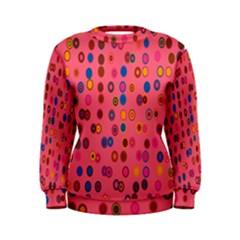 Circles Abstract Circle Colors Women s Sweatshirt