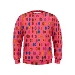 Circles Abstract Circle Colors Kids  Sweatshirt