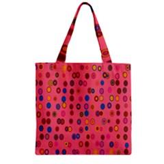 Circles Abstract Circle Colors Zipper Grocery Tote Bag