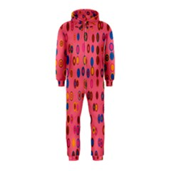 Circles Abstract Circle Colors Hooded Jumpsuit (kids)