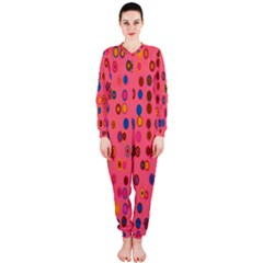 Circles Abstract Circle Colors Onepiece Jumpsuit (ladies)