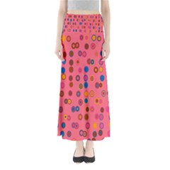 Circles Abstract Circle Colors Maxi Skirts