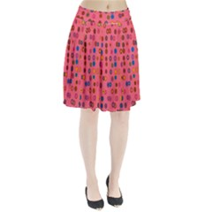 Circles Abstract Circle Colors Pleated Skirt
