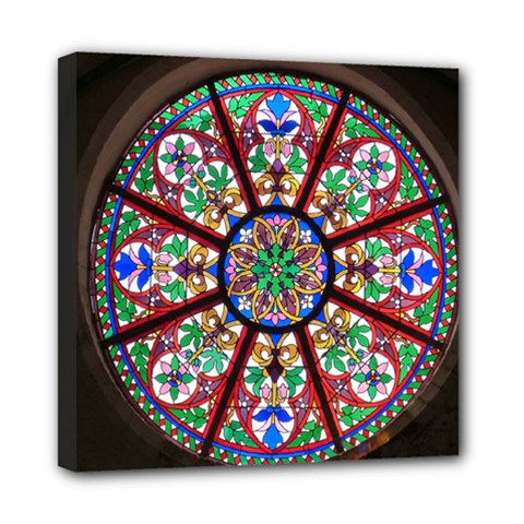 Church Window Window Rosette Mini Canvas 8  x 8