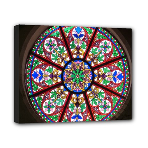 Church Window Window Rosette Canvas 10  x 8