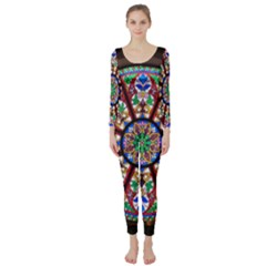 Church Window Window Rosette Long Sleeve Catsuit