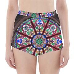 Church Window Window Rosette High-Waisted Bikini Bottoms