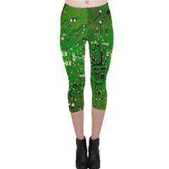 Circuit Board Capri Leggings