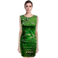 Circuit Board Classic Sleeveless Midi Dress