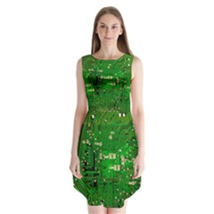 Circuit Board Sleeveless Chiffon Dress