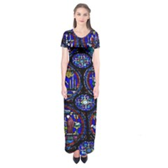 Church Window Canterbury Short Sleeve Maxi Dress