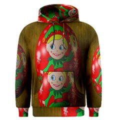 Christmas Wreath Ball Decoration Men s Pullover Hoodie