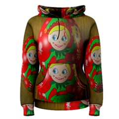Christmas Wreath Ball Decoration Women s Pullover Hoodie