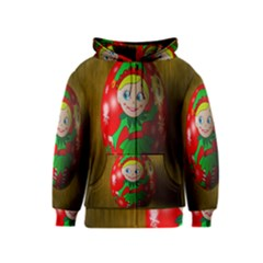 Christmas Wreath Ball Decoration Kids  Zipper Hoodie