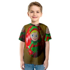 Christmas Wreath Ball Decoration Kids  Sport Mesh Tee