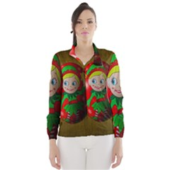 Christmas Wreath Ball Decoration Wind Breaker (women)