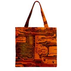 Circuit Zipper Grocery Tote Bag