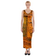 Circuit Fitted Maxi Dress