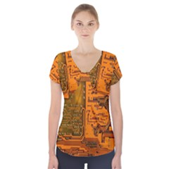 Circuit Short Sleeve Front Detail Top