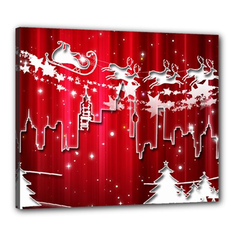 City Nicholas Reindeer View Canvas 24  x 20