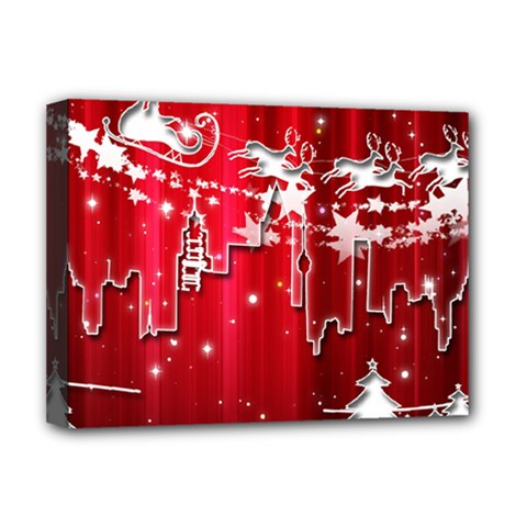 City Nicholas Reindeer View Deluxe Canvas 16  x 12