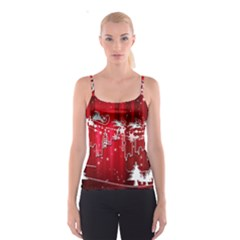 City Nicholas Reindeer View Spaghetti Strap Top